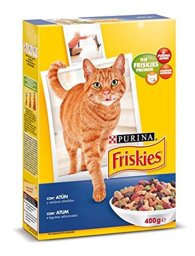 Purina Friskies Pienso Comida Seca para Gato Adulto, Sbor Atún y Verduras - 400 g