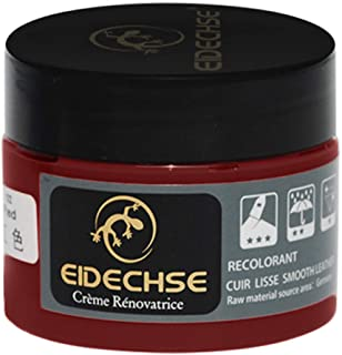 CCatyam Repair Cream Leather, Filler Compound Rub for Sofa Leather Restoration Cracks Burns Holes Couches Renovation Dyeing (1x Repair Cream, Red)