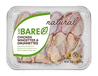 Just BARE All Natural Fresh Chicken, Family Pack of Wingettes & Drummettes, 2.0 lb