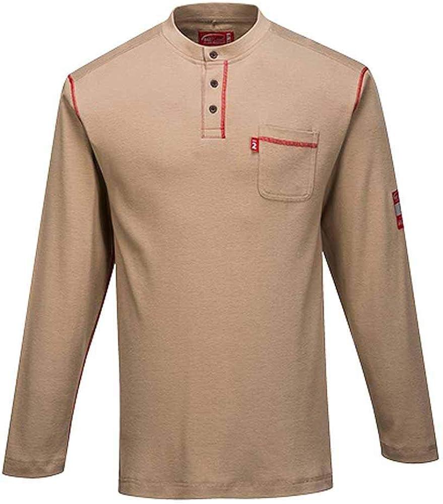 Portwest Bizflame Henley Neck T-Shirt - FR02 希望者のみラッピング無料 価格交渉OK送料無料