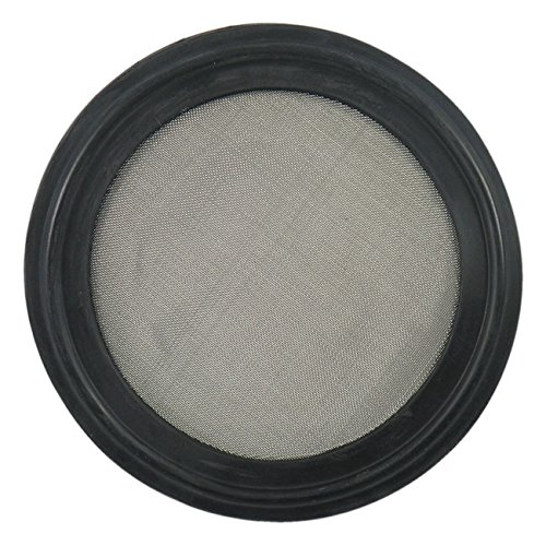 Buna Sanitary Tri-Clamp Screen Gasket, Black - 2' w/ 60 Mesh (316L Stainless Steel)