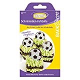 BackDecor Fußbälle aus Schokolade | Fußball | Cupcakes | Tortendeko | Schokoladendeko