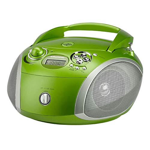Grundig GRB 2000 Tragbare Radio Boombox grün/Silber