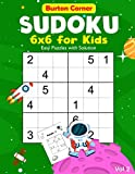 Sudoku for Kids: 6x6 Easy 100 Puzzles Games Book with Solution for Beginners Vol.2 Space Themed, Kids Ages 6-10 (Sudoku 6x6)