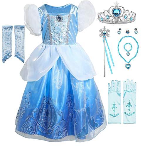Fanessy Vestido Nia Princesa Cenicienta Disfraz Carnaval Disfraz Nio Navidad Carnaval