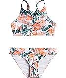 Roxy Girls' Love is Big Crop Top Swim Set, Bright White Mahe Rg S, 7