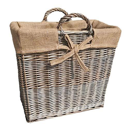 Slim Antique Wash Wicker Inloggen Basket
