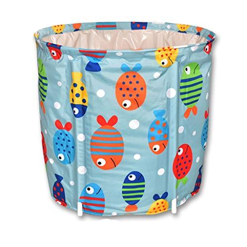 FGF Badewanne Erwachsene Badewanne Kleine Fische Falten Haushalt Erwachsene Aufblasbare Badewanne Kunststoff Verdickung 65 * 65 cm 123 (Size : A)
