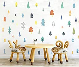 Forest Wall Decals, H2MTOOL Removable Pine Tree Wall Stickers for Kids (Pine Tree)