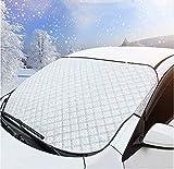 no-brand Protector de Parabrisas, Protector para Parabrisas Cubierta de Parabrisas Coche Protege de Hielo, Nieve, Lluvi, UV, Funda Plegable Parabrisa Delantero Universal