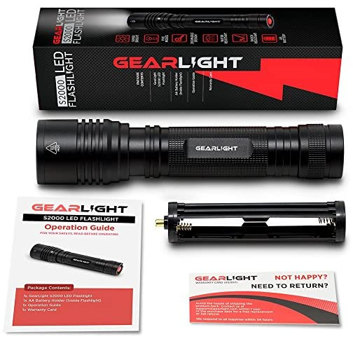 GearLight High-Powered LED Flashlight S2000 - Brightest High Lumen Light with 5 Modes, Zoomable, and Water Resistant I Powerful Camping and Emergency Flashlights 4
