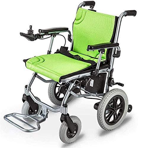 ZHIRCEKE Silla de Ruedas eléctrica Ligera y Plegable con Joystick de 360 ° y batería de Litio, Ayuda de Movilidad eléctrica para Ancianos y discapacitados