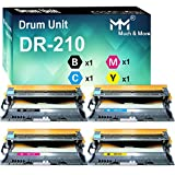 MM MUCH & MORE Compatible Drum Unit Replacement for Brother DR210CL DR-210 DR210 DR-210CL TN210 to Use with HL-3040CN HL-3070CW HL-3075CW MFC-9010CN MFC-9120CN MFC-9320CW (Bk, C, M, Y) 4 Pack