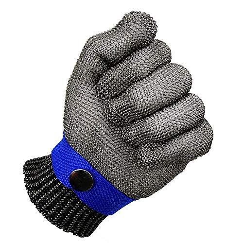 REFURBISHHOUSEBlau Sicherheit Schnittschutz Stabbeständig Edelstahlgitter Metzgerhandschuh Hochleistung Schutzklasse 5 Größe S