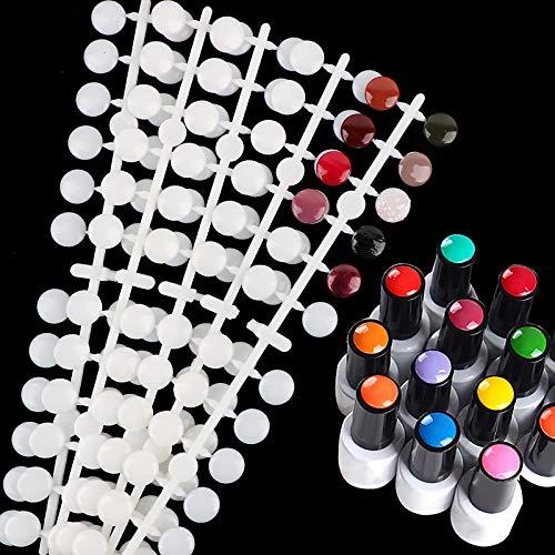 FLOFIA 120 Stück Nail Art Tips Präsentation Nail Art Display Fächer Nagelspitzen Praxis Nagellack Präsentation Fächer