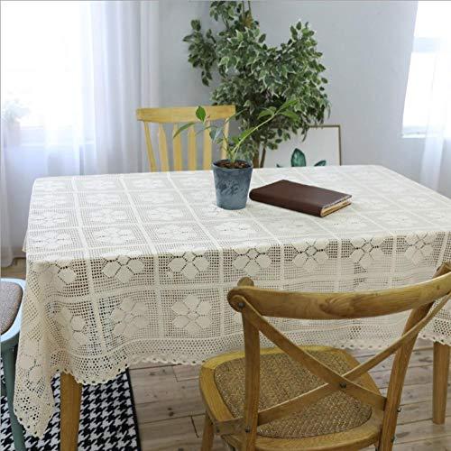 HXRA Tafelkleden Buiten tafelkleden Gebreide gehaakte tafelkleed hol linnen katoenen tafelkleed salontafel tafelkleed afdekdoek handdoek