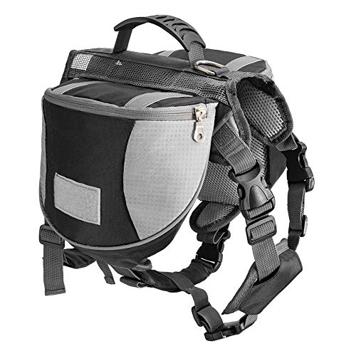Less bad Lifeunion Dog Backpack New Adjustable Camping Hiking Travel Dog Saddle Bag Pack for Outdoor(Small, Black)