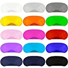 Aneco 30 Pack Colorful Eye Mask Cover Shade Blindfold Soft Eye Shade Cover with Nose Pad for Travel Sleep or Party Supplies, 15 Colors