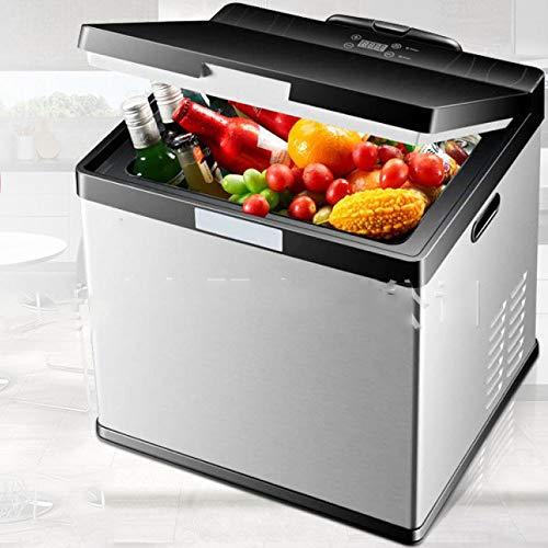 SSLL 20/30 Liter Mini Kühlschrank Kühlbox Für Bierkasten Warmhaltebox Campingkühlschrank 12/ 24Volt Cooling Box Tragbare Thermo-elektrische Kühlbox/Heizbox Für Auto, LKW Und Steckdose,30L