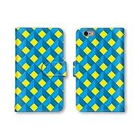 【ノーブランド品】 AQUOS PHONE SERIE SHL22 スマホケース 手帳型 模様 チェック ブルー イエロー 青色 黄色 かわいい おしゃれ 携帯カバー SHL22 ケース 携帯ケース アクオスフォン セリエ