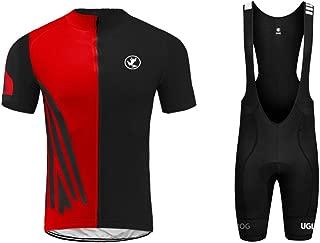 Uglyfrog Pro Team Summer Men's Cycling Jersey Set Bib Shorts with 3D Padded Cycling Kits