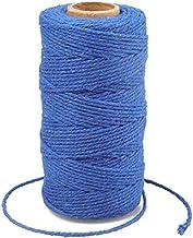 G2PLUS Donkerblauw Katoen String Twine, 100 M Gift Wrapping Bakers String, 2 MM Handwerk Decoratieve Cord Twine voor DIY G...