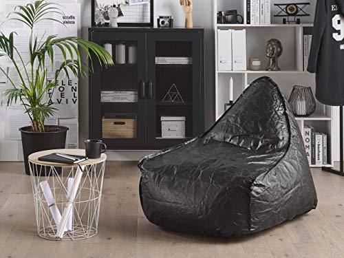 Beliani Trendy Sitzsack mit EPS Kugeln Kunststoff schwarz Drop