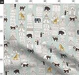 mint, Dschungel, Elefant, Nashorn, architektonisch,