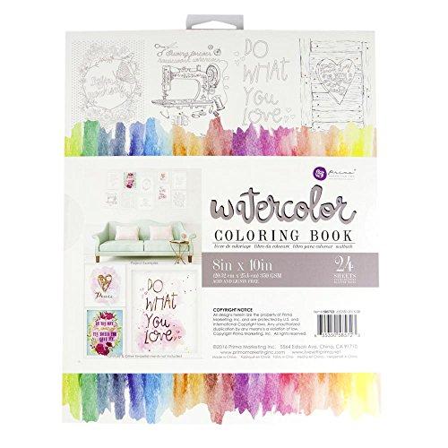 Prima Marketing 585723 8x10 Watercolor Coloring Book
