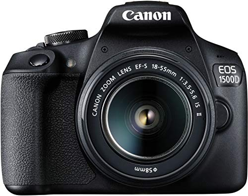 Canon EOS 1500D 24.1 Digital SLR Camera (Black) with EF S18-55 is II Lens