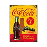 Nostalgic-Art - Coca-Cola en Botellas Yellow - 8 x 6 cm imán