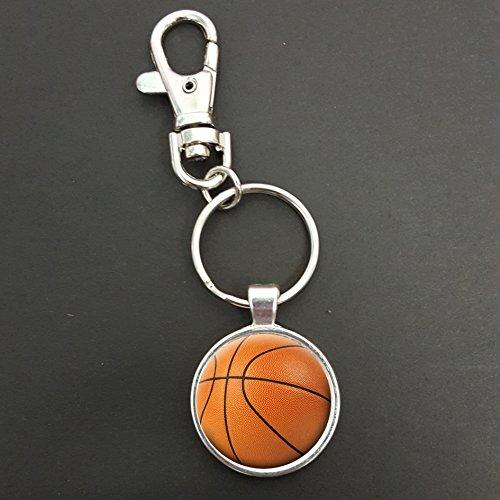 Baloncesto Colgante sobre una primavera gancho llavero bolsa etiqueta ideal regalo de cumpleaños N968