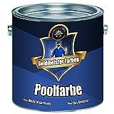 Goldmeister Farben Schwimmbeckenfarbe meisterhafte Poolfarbe Pool-Beschichtung Schwimmbecken-Beschichtung Badbeschichtung in Blau, Weiß und Grün (2,5 L, Grün)