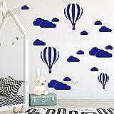 HGFDHG Nube casera Globo de Aire Caliente Pegatinas de Pared habitación de los niños Vinilo calcomanías de Pared del Dormitorio Pegatinas Creativas de jardín de Infantes