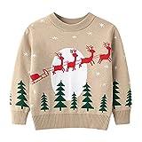 URMAGIC Neonati Maglioni di Natale Completi Bimbo Bambini Ragazze Natale Renne Maglioni a Maniche Lunghe Cardigan Unisex Vestiti di Natale per Bambini 2-7 Anni