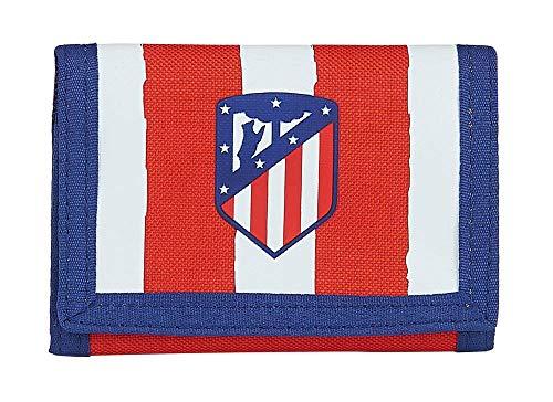 Safta- Atlético de Madrid Accesorio de viaje- Billetera, Color rojo/blanco/azul, 125xx95 mm (812058036)