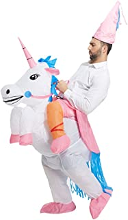 TOLOCO Inflatable Unicorn Rider Costume | Inflatable Costumes for Adults Or Child | Halloween Costume | Blow Up Costume