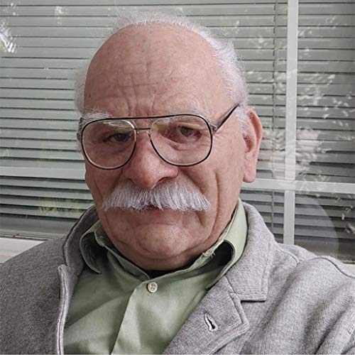 Old Man Mask Realistic Latex Human Decorative Halloween Masks for Adults