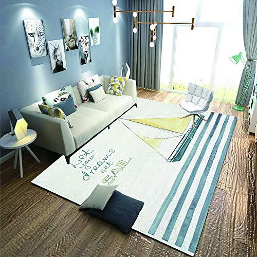 Voetmat, tapijt voor kinderen, magische eenhoorn, fitnessmat, badmat, tapijt, vloermatten, 90 × 120 cm