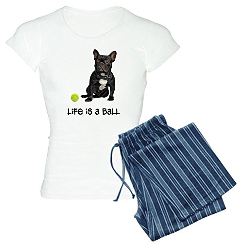 CafePress French Bulldog Life Women's Light Pajamas Womens Novelty Cotton Pajama Set, Comfortable PJ Sleepwear