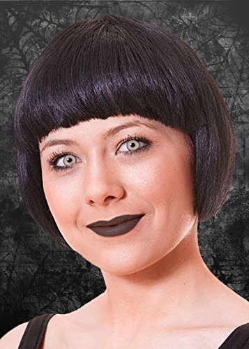 Struts Fancy Dress Mesdames Chine Noir Gothique Doll Wig