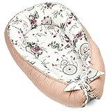 Cuna nido para recién nacidos, hecha a mano, de algodón, con certificado Oeko-Tex