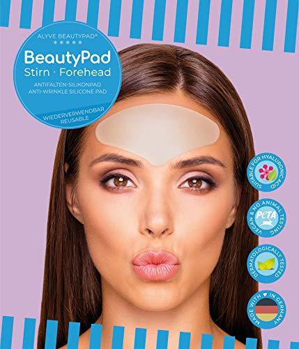 Alyve BeautyPad® Stirn Anti Falten Silikon Pad | Stirnfalten, Zornesfalten | wirkt schnell, hautfreundlich, wieder verwendbar