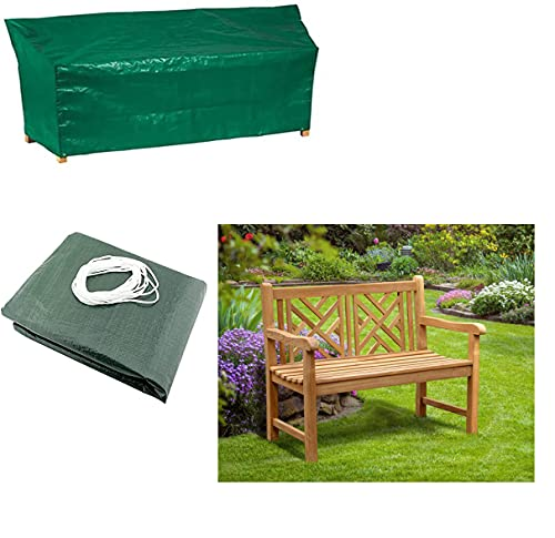 Fine Garden 2 Seater Garden Bench Cover | Waterproof Bench Cover for Outdoor | 2 Seat Outside Park Loveseat, Sofa, Glider, Furniture Cover