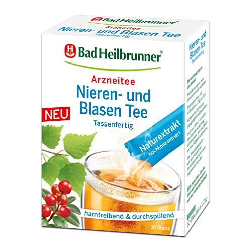 Bad Heilbrunner Nieren- und Blasen Tee im Stick, Tassenfertig, 8er Pack (8 x 10 Sticks)