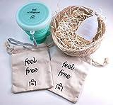 Povi Store - Paquete 1 copa menstrual talla L (20ml) + esterilizador + 1 bolsa de tela.