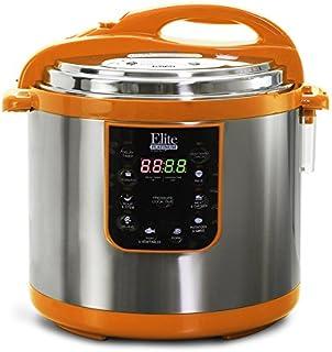 Elite Platinum EPC-1013OR Maxi-Matic 10 Quart Electric Pressure Cooker, Orange (Stainless Steel)