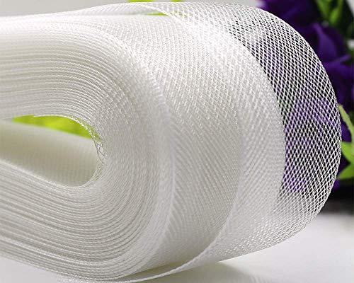 VIVIPA Wide Polyester White Horsehair Braid,...