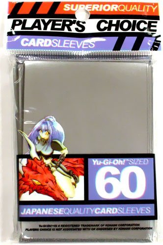 YuGiOh Players Choice 60 Count YuGiOh Size Japanese Quality Gaming Card Sleeves Silver