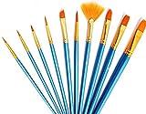 10pcs artistas pintura juego de pinceles para arte y manualidades acrílico aceite acuarela pintura en miniatura modelo pintura cara cuerpo pintura de uñas